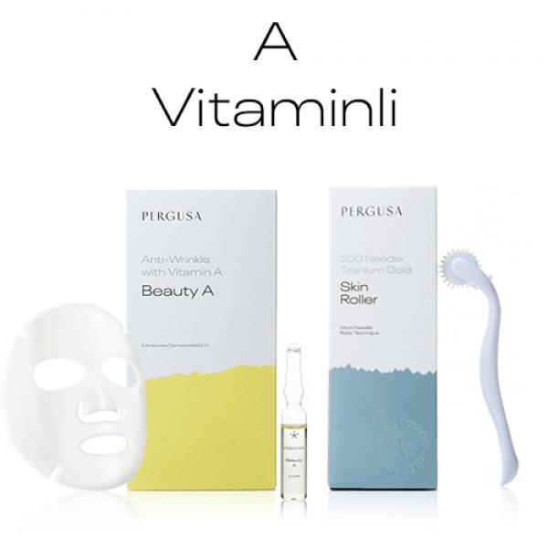 A Vitaminli Dermaroller Bakım Seti